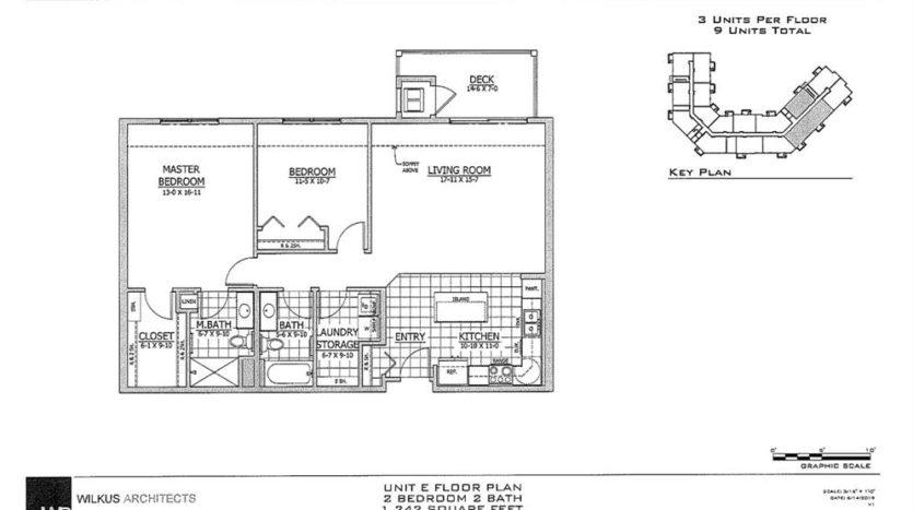 SW Unit E Floor Plan