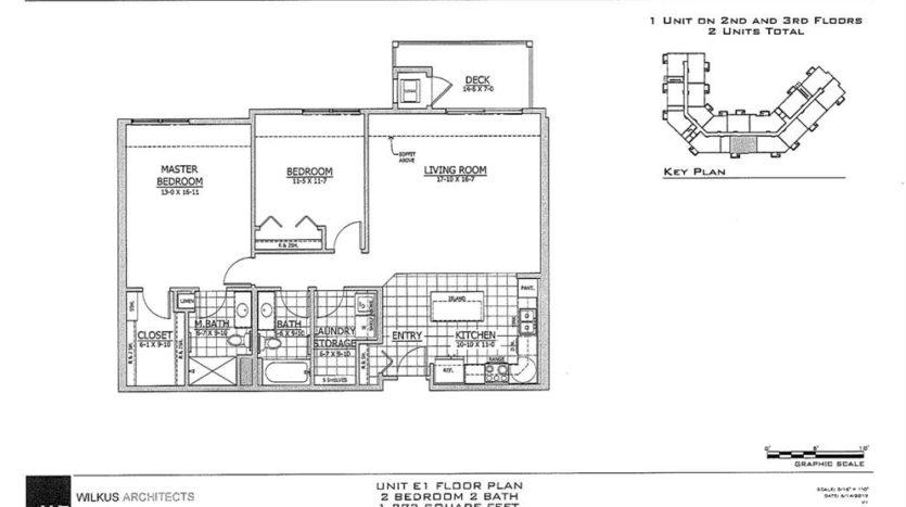 SW Unit E1 Floor Plan